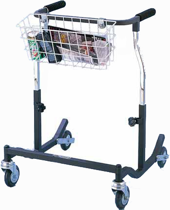 AnteriorAdultWalker Black Sturdy walker from Tuffcare W200 with padded handgrips.